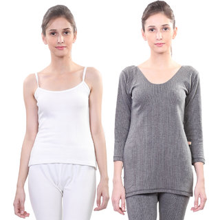 Vimal Winter Premium Thermal Black And White Upper For Women(Pack Of 2)