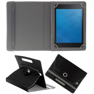 DYCP Flip Cover For Micromax Canvas Tab P470 (Black)