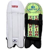 Bluedot Champion Boy Batting Pads (White, Green, Ambidextrous)