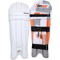 Tenstar Pro-1000 Men Batting Pads (White, Ambidextrous)