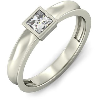 Real Diamond Silver Ring