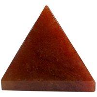 Gomati Ethnic Handicrafts Showpieces Fengshui Red Aventurine Stone Vaastu Pyramid 8 Cm