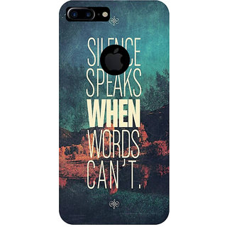 GripIt Silence Speaks Printed Case for Apple iPhone 7 Plus