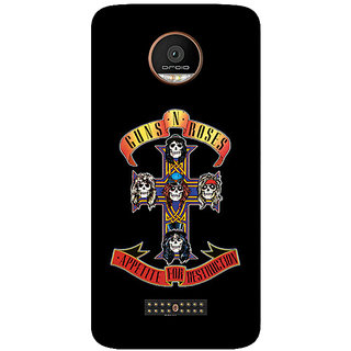 GripIt Guns & Roses Printed Back Cover for Motorola Moto Z Play