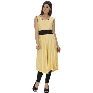 Lingra Yellow Rayon Kurti