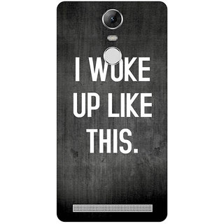 GripIt I WOKE UP LIKE THIS (Black) Cover for Lenovo K5 Note