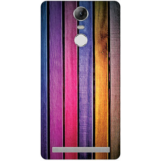 GripIt Painted Wood Strips Case for Lenovo K5 Note