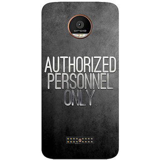 GripIt Authorized Personnel Only Printed Case for Motorola Moto Z