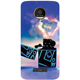 GripIt Lighter Of Love Printed Case for Motorola Moto Z Play