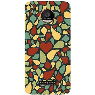 GripIt Colourful Petals Printed Back Cover for Motorola Moto Z Play