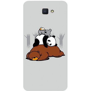 GripIt Sleepy Animals Printed Case for Samsung Galaxy J7 Prime