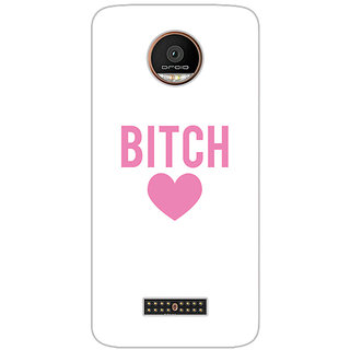 GripIt Bitchy Heart Printed Case for Motorola Moto Z