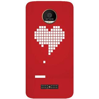 GripIt Digital Heart Printed Case for Motorola Moto Z Play