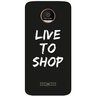 GripIt Live To Shop Printed Case for Motorola Moto Z