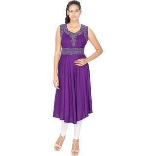 Lingra Purple Rayon Kurti
