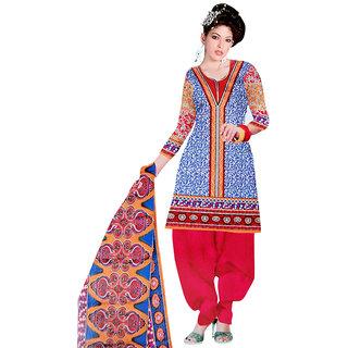 Aaishwarya Prints Multi Color Cotton Dress Material