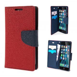 Redmi MI3 Wallet Diary Flip Case Cover Red