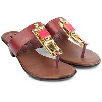 Do Bhai Women's Red Round Toe Heels - 101411247