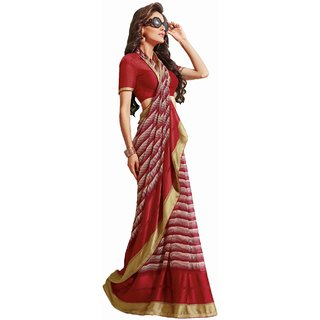 Sudarshansilk Multi Aariwork Georgette Saree