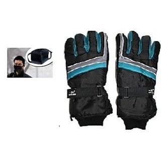 Combo Pro Liner Winter Gloves+ Anti Pollution Face Mask
