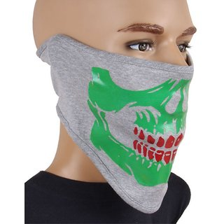Sushito Gray Face Mask With Headwrap JSMFHFM0259N