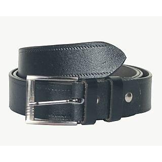 Mens leather black belt