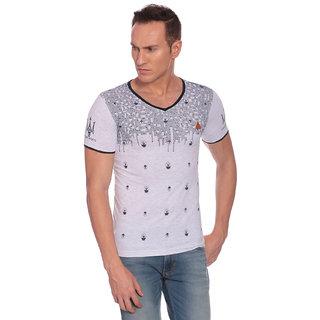 27Ashwood Men's White V-Neck T-shirt