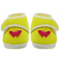 Neska Moda Baby Infant Soft Yellow Booties 12 CM Length For Age Group 6 To 18 Months BT7