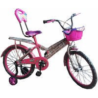 Oh Baby Baby 50.8 Cm (20) Double Seat Bicycle With SPOKE WHEEL In Pink Color For Your Kids SE-BC-19
