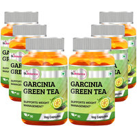 St.Botanica Garcinia Green Tea - 90 Veg Caps - Pack Of 6