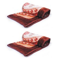AB Single Bed Multicolor Printed Mink Blanket (128x210cms) (BUY 1 GET 1 Free)