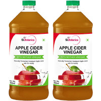 StBotanica Apple Cider Vinegar - 500ml Pack Of 2 - With Mother Vinegar
