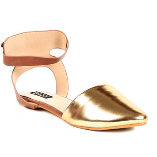 TEN Golden Patent Leather Mules Sandals