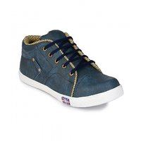 Groofer Mens Blue High Top  Casual Shoes