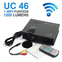 UNIC UC46 LED Wifi Projector HD 1080p- WiFi / HDMI/ SD Card/ AV IN/ USB 1200LM Support DLNA/ Airplay/ Airmirror/Miracast
