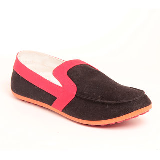 Foot 'n' Style Cool Black & Red Shoe fs294