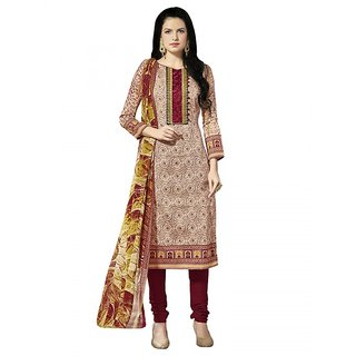 Sareemall Multi Printed Cotton Unstiched Dress Material With Matching Dupatta
