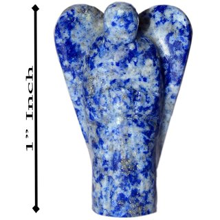 Gomati Ethnic Handicrafts Decorative Lapis Lazuli Stone Angel 1 Inch