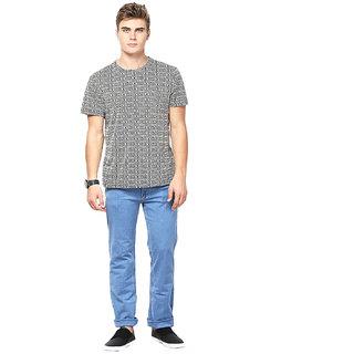 Lee Marc Blue Mid Rise Regular Fit Jeans For Men