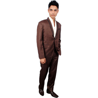 The Mods Gray Brown Plain Blazer for Men