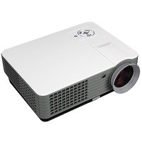RD-801A 2000 Lumens Led Portable Projector With HDMI / AV / VGA / USB / TV Multimedia Portable LCD Projector