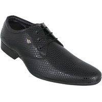 Peter John Leather's Men Black Lace-up Formal Shoes