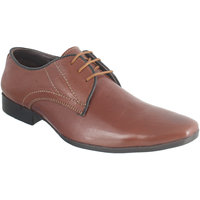 Peter John Leather's Men Brown Lace-up Formal Shoes