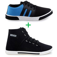 Stylivo Men Blue Lace-up Casual Shoes