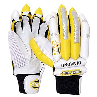 Batting Glove In P.U Fingers With Leather Palm Cw Diamond