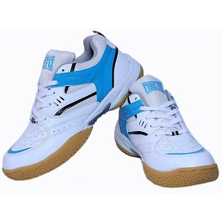 Excel Badminton Shoes Firefly White Blue With Non Marking Sole