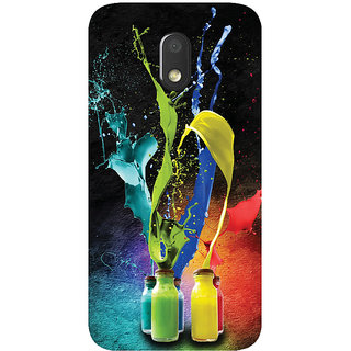GripIt Colour Splash Printed Case for Motorola Moto E3