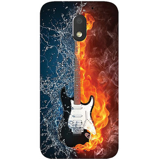 GripIt Guitar From Water & Fire Printed Case for Motorola Moto E3