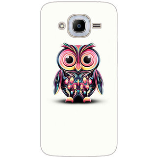 GripIt Coloueful Owl Printed Case for Samsung Galaxy J2 (2016)