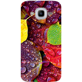 GripIt Rainy Leaves Printed Case for Samsung Galaxy J2 (2016)